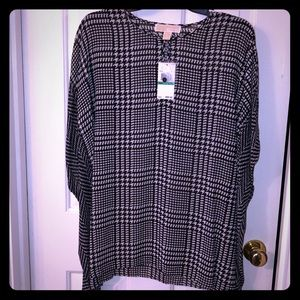 Michael Kors black and white houndstooth Tunic